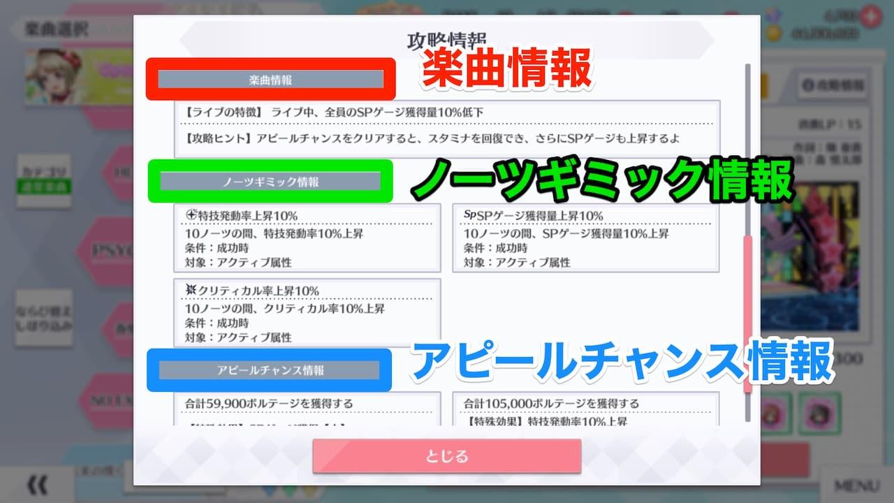 【スクスタ】攻略情報の内容